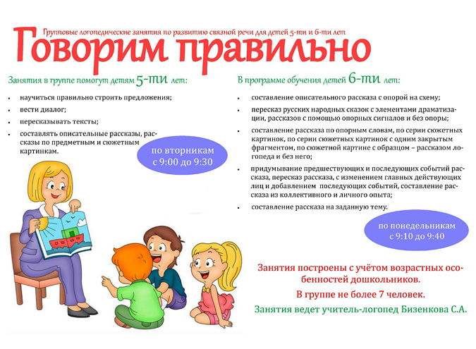 Групповые логопедические занятия по развитию связной речи для детей 5-6 лет