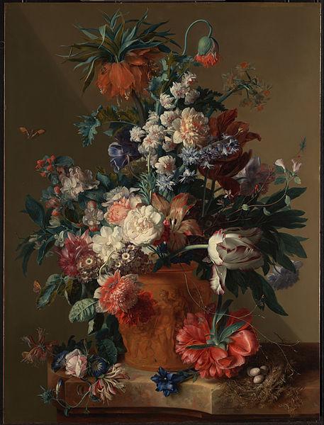 Ян Ван Хейсум. Ваза с цветами